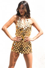 Load image into Gallery viewer, Beach Luxury Sexy Metal Chain Sequin Festival Party Dress