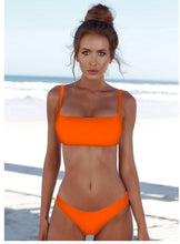 Load image into Gallery viewer, Beach Luxury Neon Padded Solid Brazilian Push-Up Bikini 7 Colours