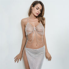 Load image into Gallery viewer, Rhinestone Bra Body Chain Metal Diamond-Studded Party Club Dance Bralette