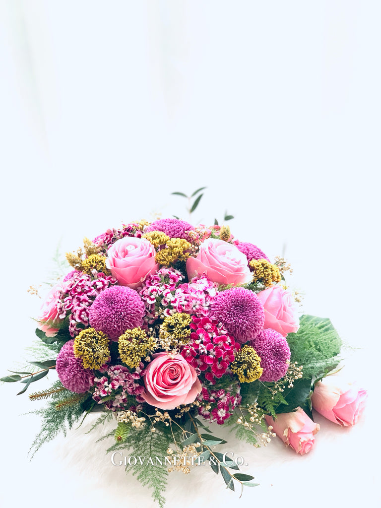 Rosy Dome Centerpiece