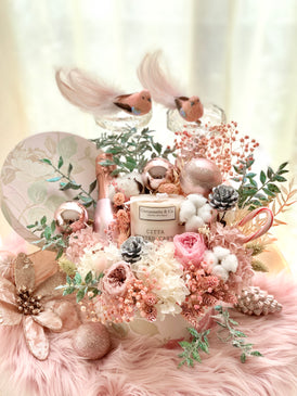 Les Elegante Bottega Bloom Box (Preserved Flowers) - X'mas Edition