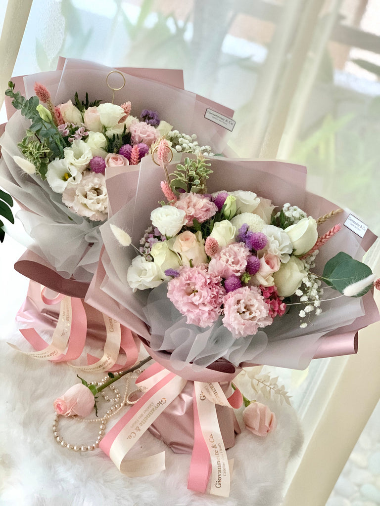 Elegant Blush Blooms Bouquet