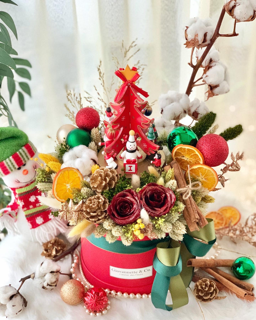 Christmas Wonderland Musical Blooms Box - Red Tree