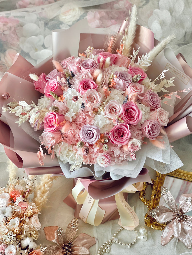 Eternity La Vie En Rose Bouquet (Preserved Flower, Extra Large)
