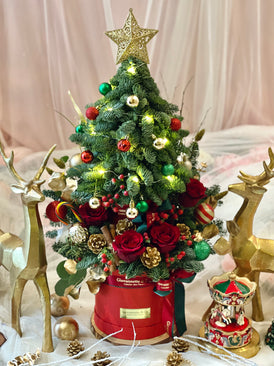 Two-Tiers Petit Arbre de Noel Bloom Box