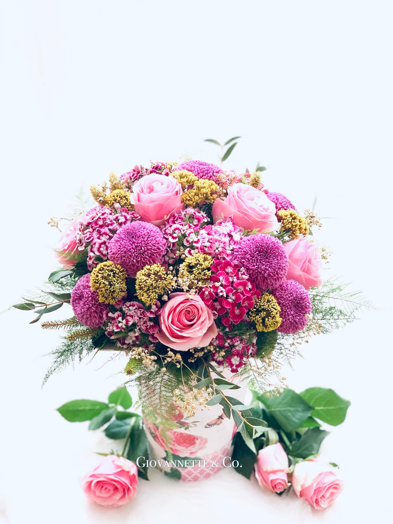 Classical Rosy Centerpiece