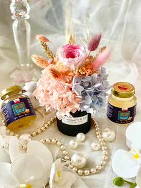 Mini Bottega Blooms & Gift Set (Preserved Flowers)