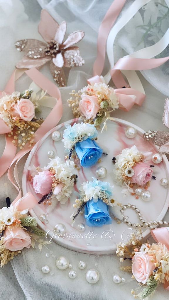 Everlasting Rose Corsage (Preserved Flower)
