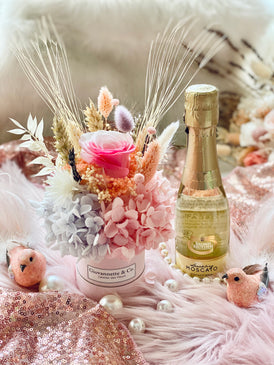 Mini Bottega Blooms Box & Sparking Moscato Set