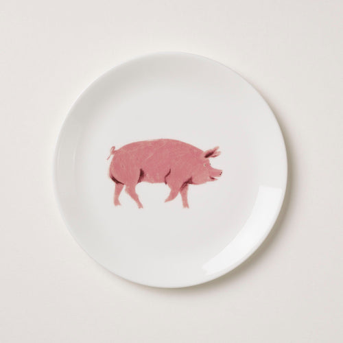 Holly's Ark 'Pig' - fine bone china side plate
