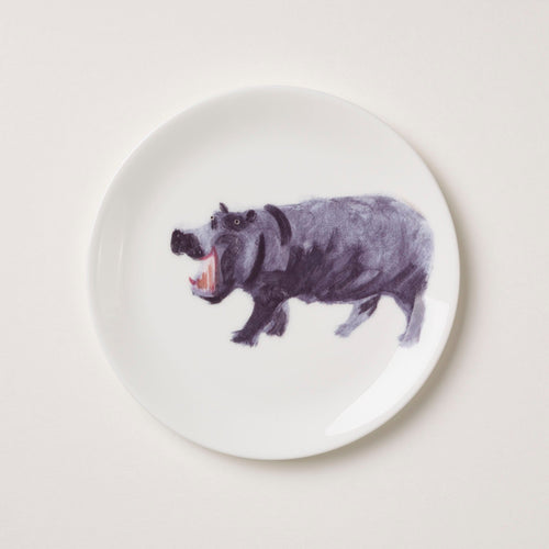Holly's Ark 'Hippo' - fine bone china side plate