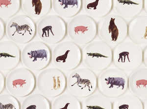 Holly's Ark 'Zebra' - fine bone china side plate