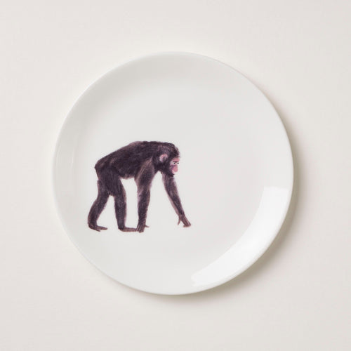 Holly's Ark 'Chimp' - fine bone china side plate