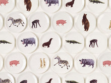 "Load image into Gallery viewer, Holly's Ark - full set of eight 8"" fine bone china side plates"