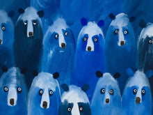 Load image into Gallery viewer, Blue Bears at the Theatre (medium)