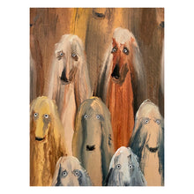 Load image into Gallery viewer, Dog Study (Afghan Hounds 2)