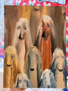 Dog Study (Afghan Hounds 2)