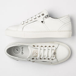 Zuma Donna White Leather Womens Sneaker - Womens Sneakers