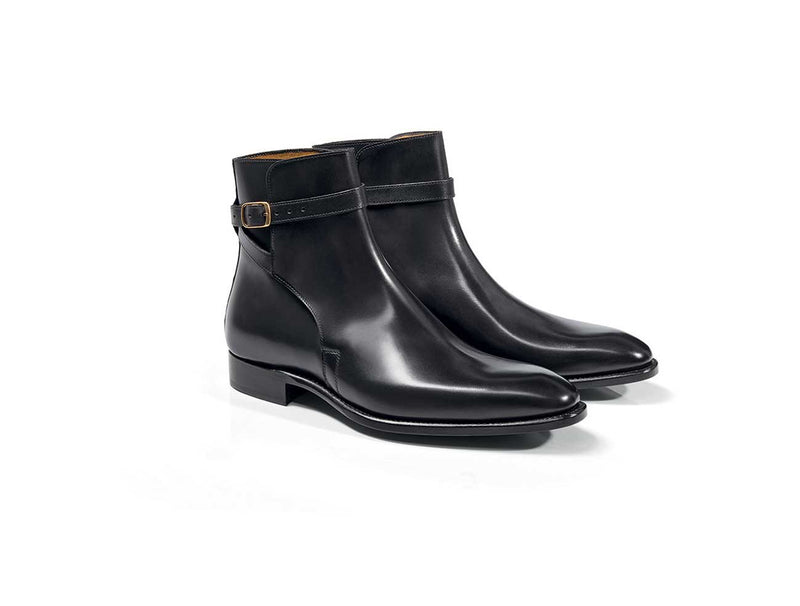 Goodyear Black Dress Boot With Buckle