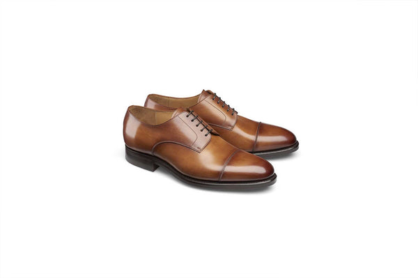 Tan Cap Toe Derby Shoe