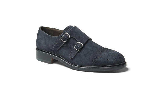 Goodyear Grey Double Monk Strap Shoe - Womens Shoes