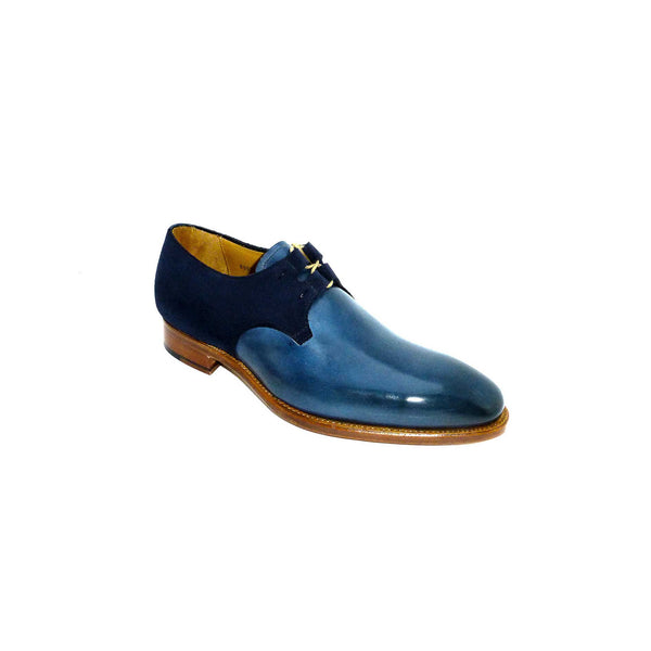 Goodyear Light Blue Derby Leather and Suede Lace up