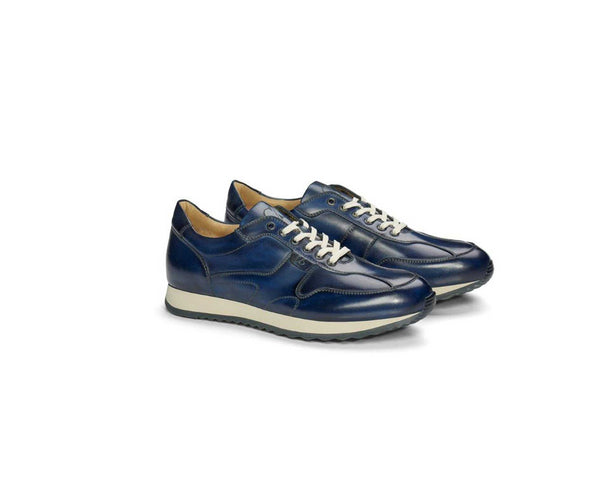 Navy Patina Leather Sneaker