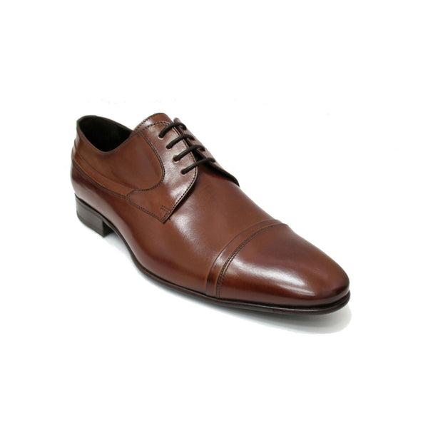 Parma Brown Lace Up With Cap Toe