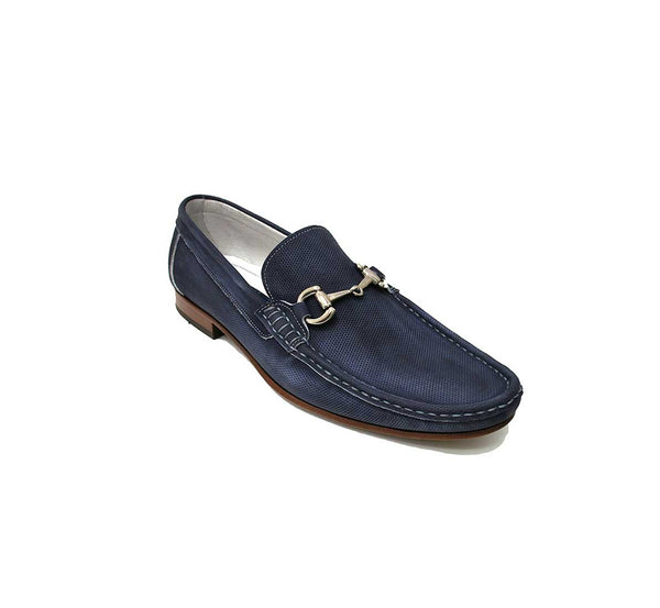 Moina Blue Loafer With Buckle