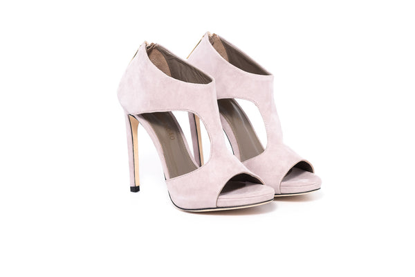 Baby Rose Suede High Heel