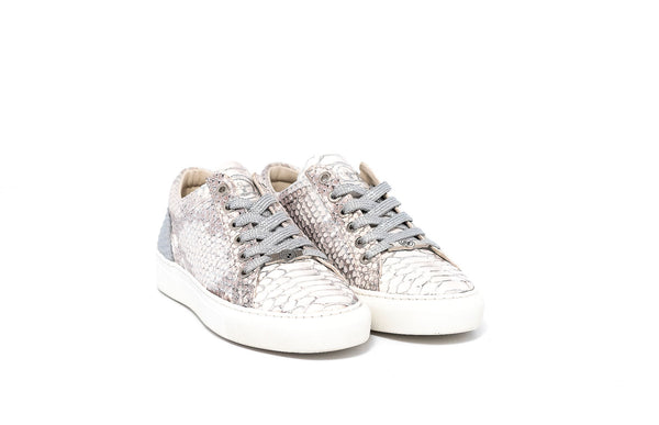 Bass Jack Silver Leather Womens Sneaker