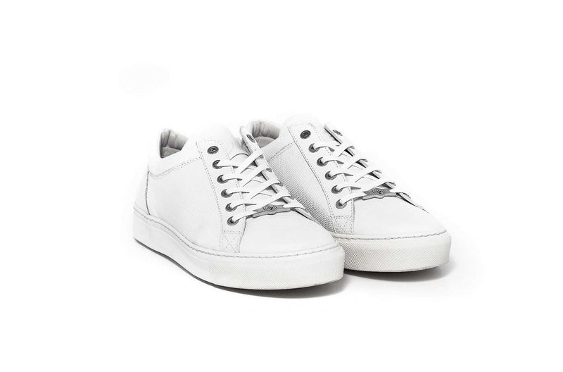 Bass Jack White Leather Mens Sneaker