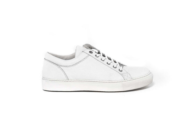 White Leather Mens Sneaker
