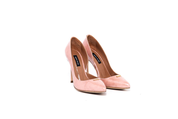 Blush Patent Pump