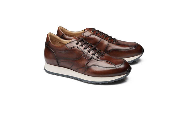 Brown Patina Leather Sneaker