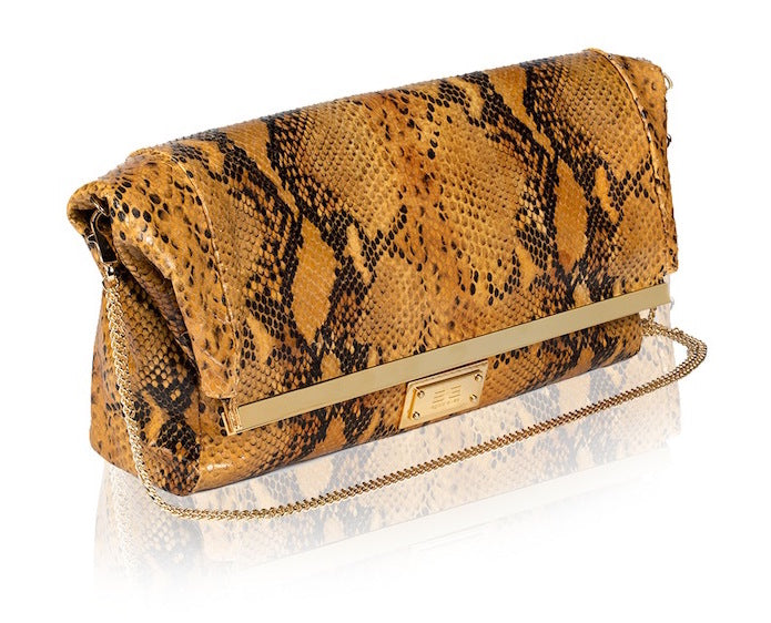 Piton Vero Camel Handbag - Womens Handbags