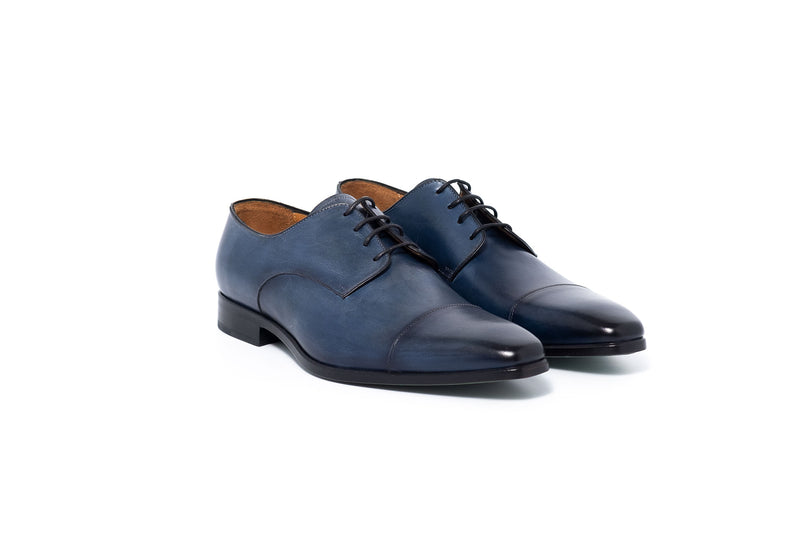 Light Blue Leather Derby Lace up