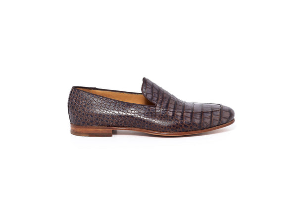 Croco Mar Brown Loafer