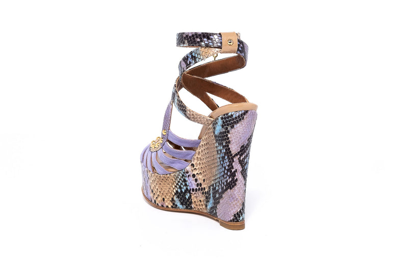 Piton Multi Lila Wedge Sandal