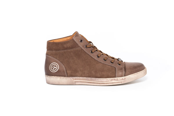 Cuba Combi Krispo Taupe Leather Mens Sneaker
