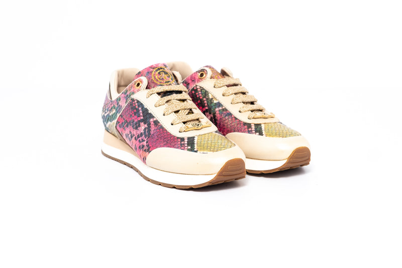 Sardinia Fish Beige and Pink Leather Womens Sneaker