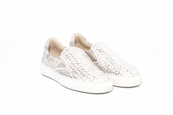 Lamu Anaconda Silver Ladies Slip On Sneaker