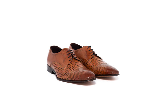Parma Tan Lace Up with Dot Detail
