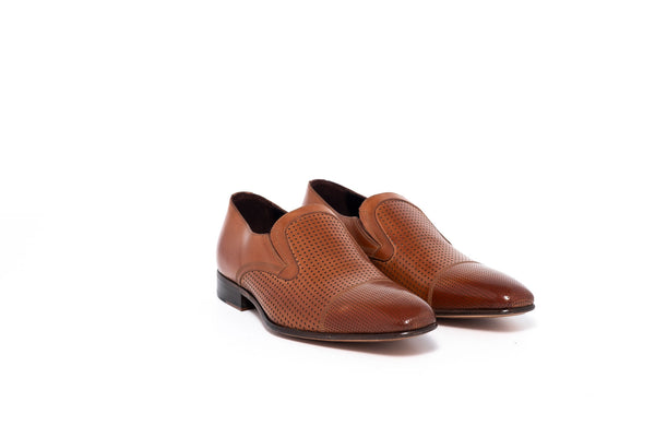 Parma Tan Slip On With Dot Detail