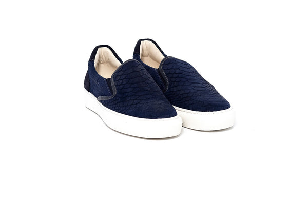 Lamu Navy Ladies Slip On Sneaker