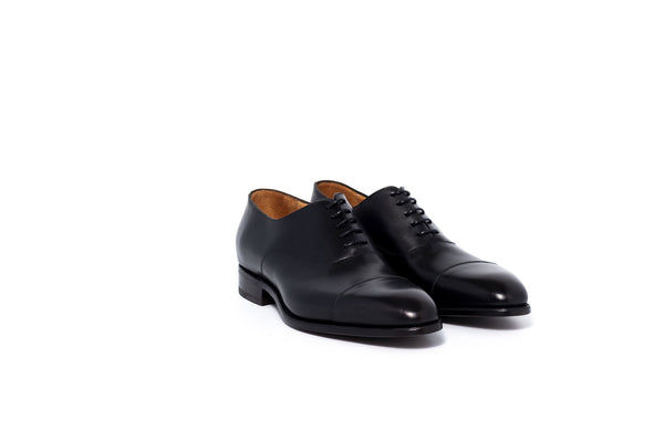 Black Cap Toe Oxford Shoe