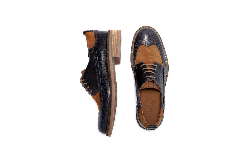 Blue Derby Brogue
