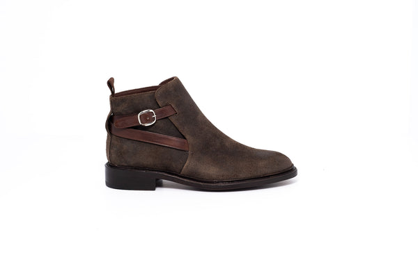Goodyear Olive Suede Ankle Boot