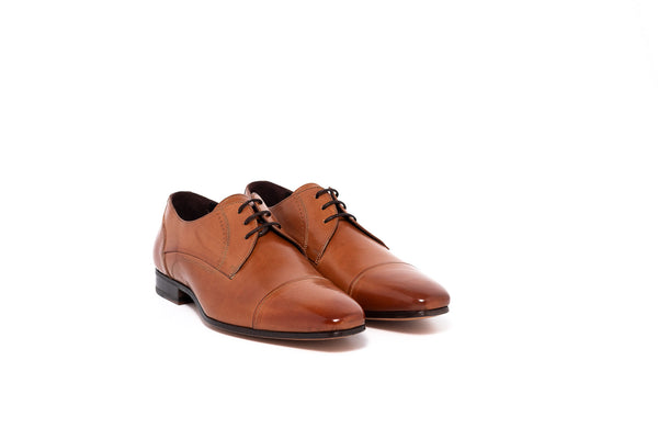 Parma Tan Lace Up with cap toe