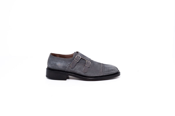 Goodyear Grey Double Monk Strap Shoe